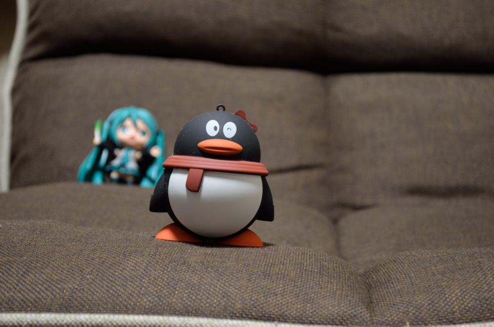 ペンギンと初音ミク