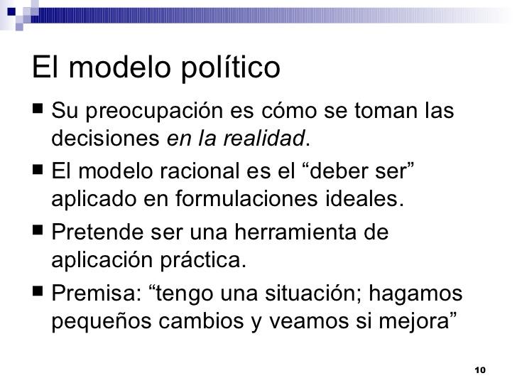 Modelo Político En Toma De Decisiones
