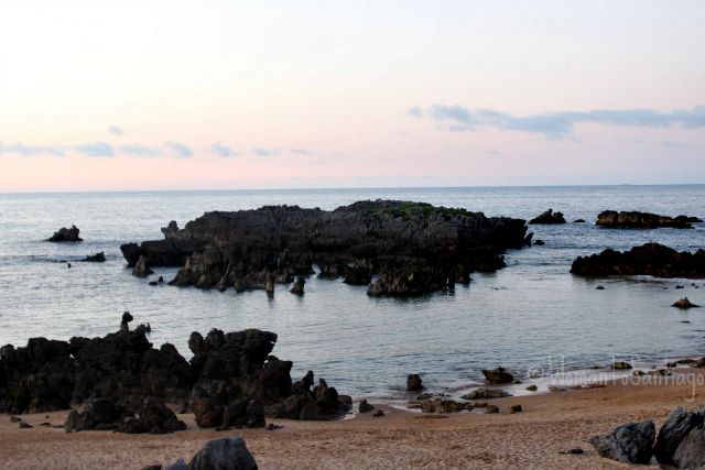 foto rocas de playa de ris