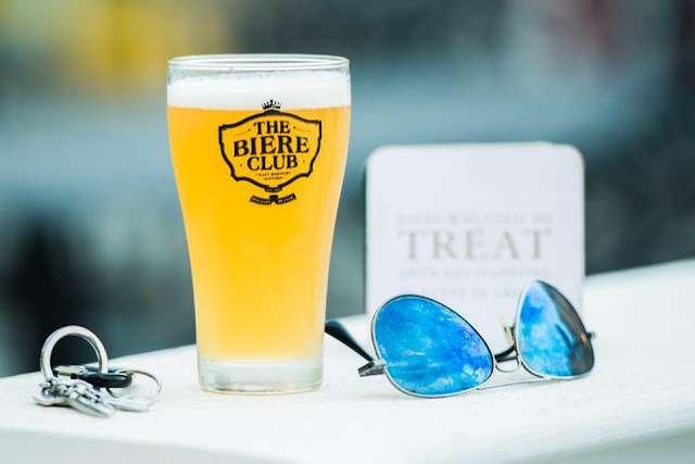 A glass of chilled beer