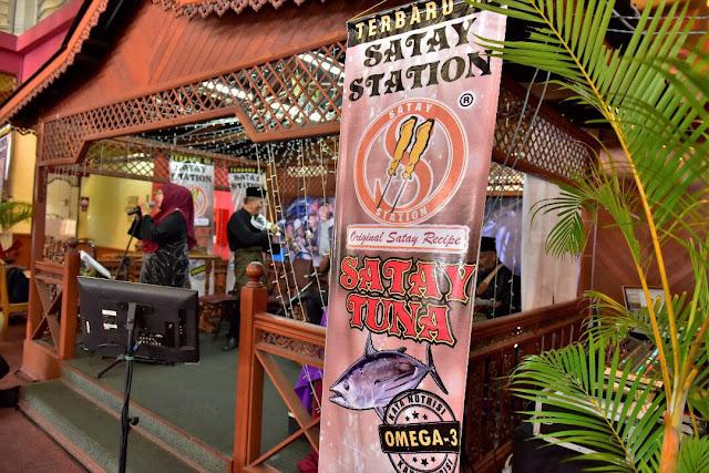 satay station, sate tuna, pendapatan lumayan untuk usahawan