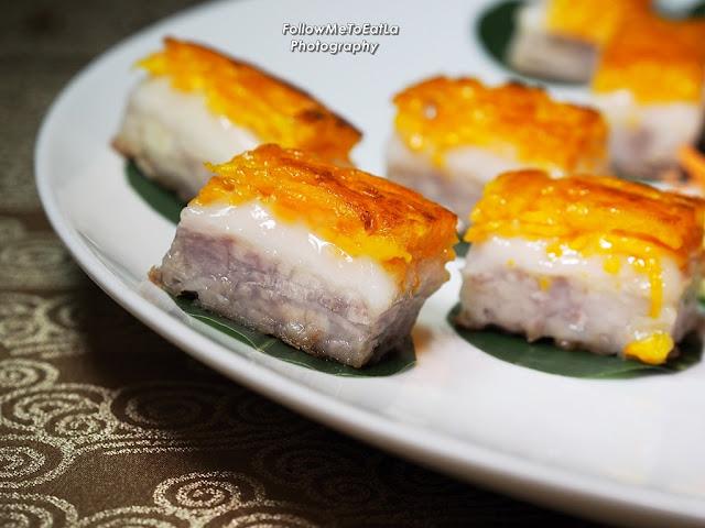 Pan-Fried Three Layer Nian Gao (Yam, Pumpkin and Coconut Milk)