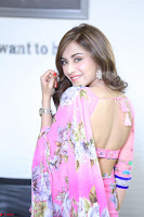 Actress Angela Krislinzki in Pink Saree Blouse Exclusive Pics March 2017 ~  092.JPG