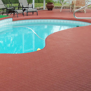 Greatmats Patio Outdoor Tile pool deck tile terra cotta color