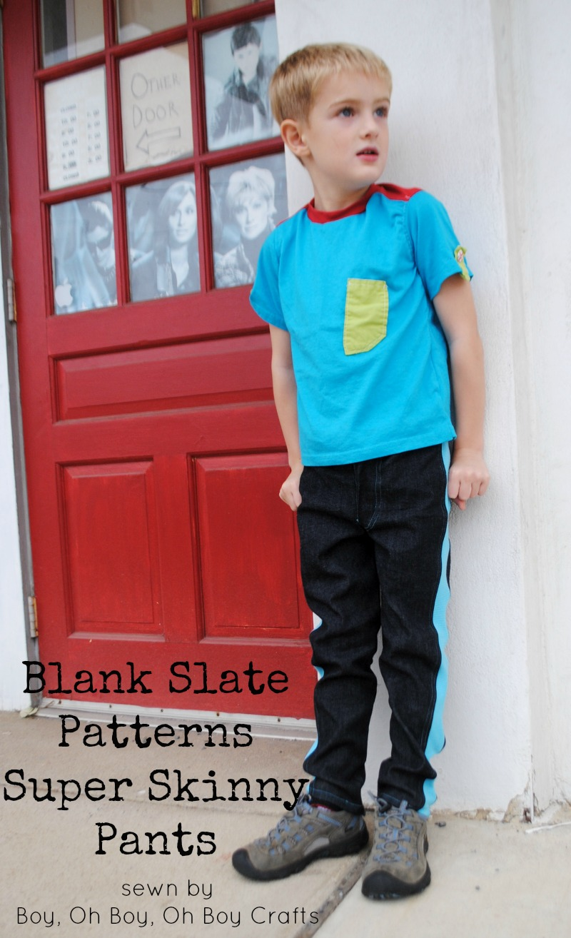 Super Skinny pants by Blank Slate Patterns sewn by Boy, Oh Boy, Oh Boy