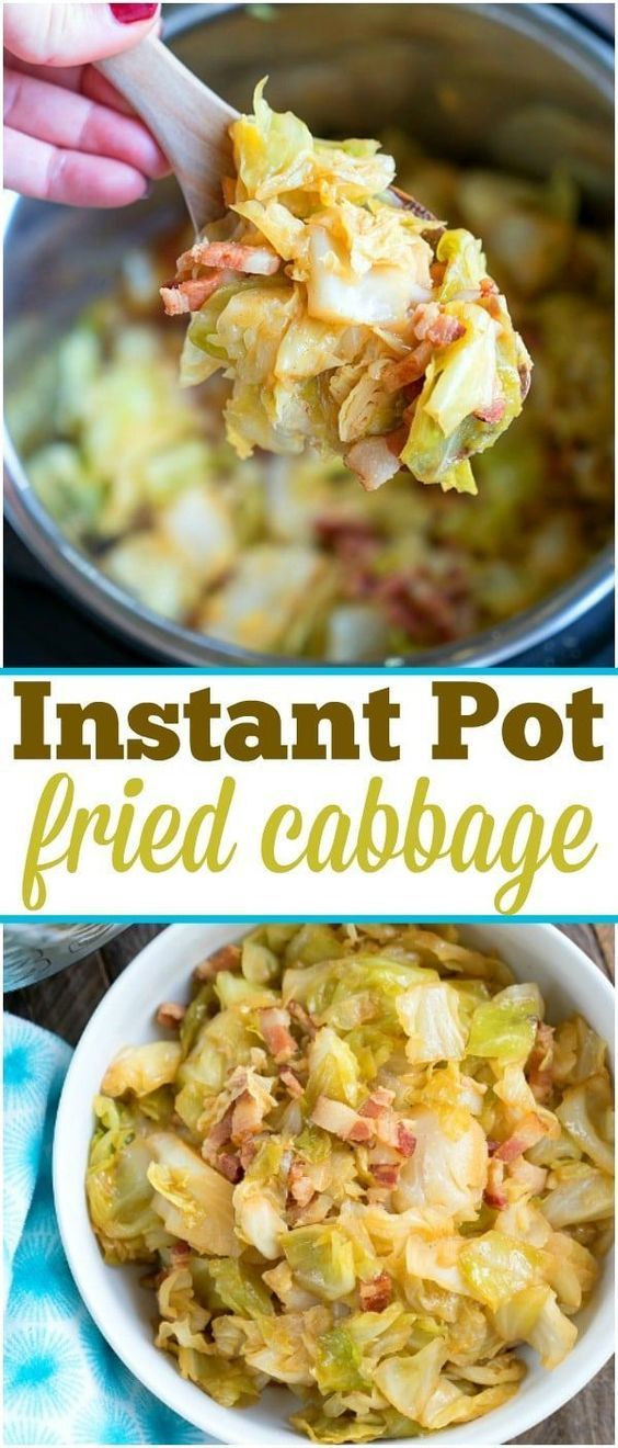 Pressure Cooker Fried Cabbage