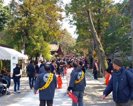 人文研究見聞録:大縣神社の豊年祭の様子