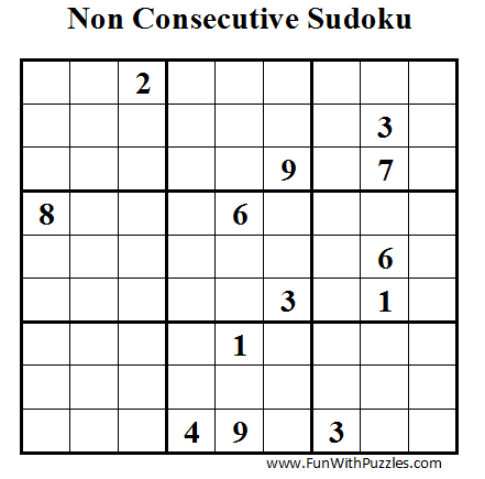 Non Consecutive Sudoku (Daily Sudoku League #34)