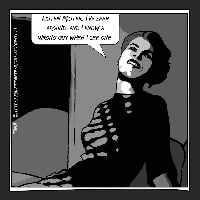 retro graphic novel style