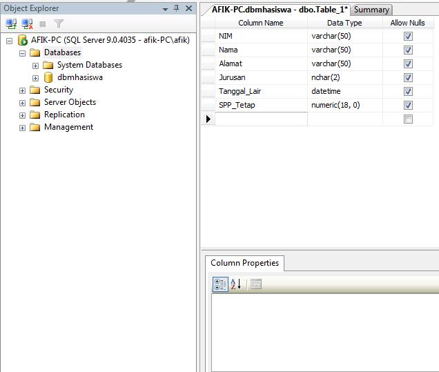 2 - Koneksi Sql Server Dengan Microsoft Visual Studio