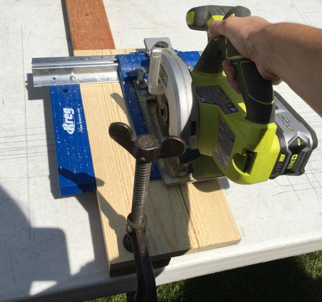 using Kreg Rip cut