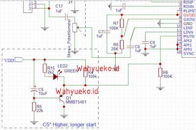 Cara menghilangkan suara jedug pada power amplifier TPA3116