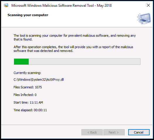 Microsoft Windows Malicious Software Removal Tool v5.73
