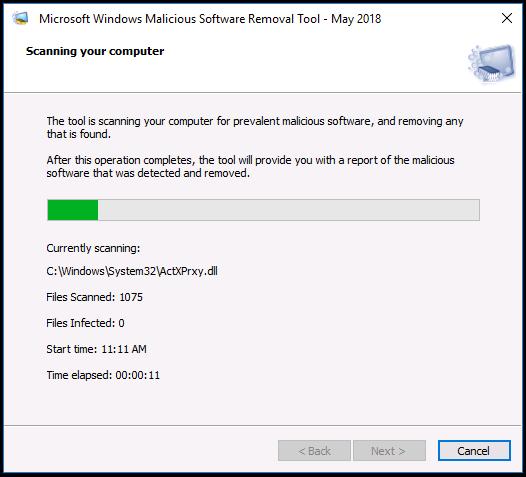 Microsoft Windows Malicious Software Removal Tool v5.72