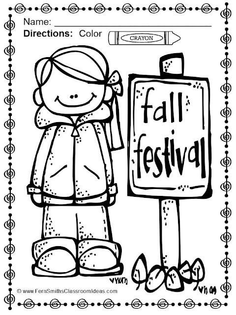 Fern Smith's Classroom Ideas FREE Fall Color for Fun Coloring Sheet Printable in the Preview File, download it and try before you buy at TeachersPayTeachers, TPT.