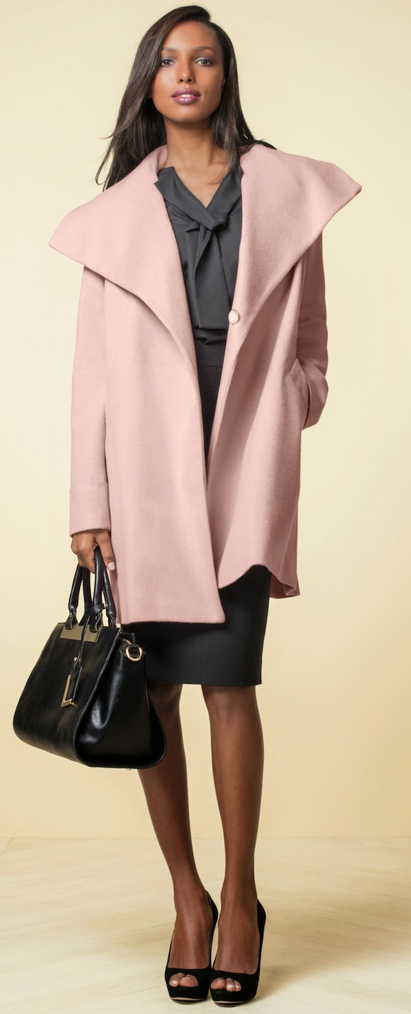 The Limited Drape Collar Wrap Coat