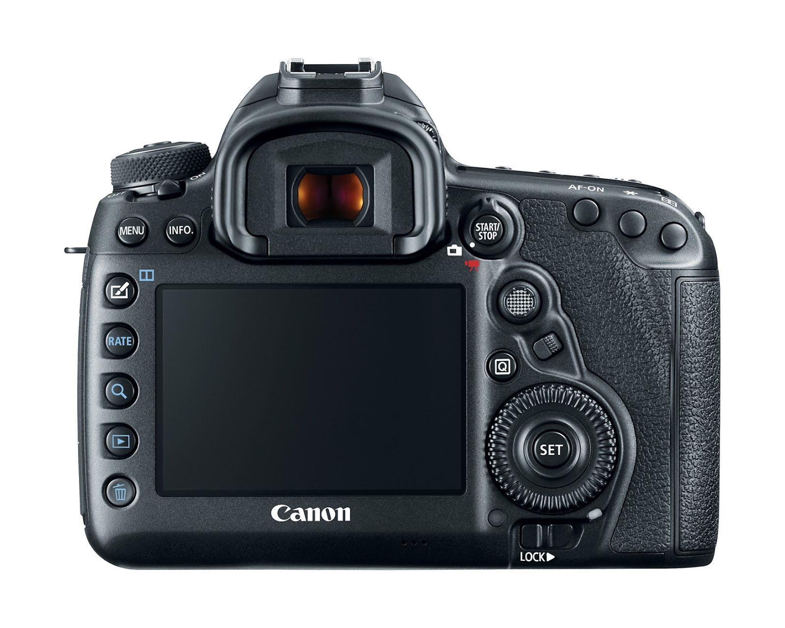 Canon EOS 5D Mark IV, вид сзади