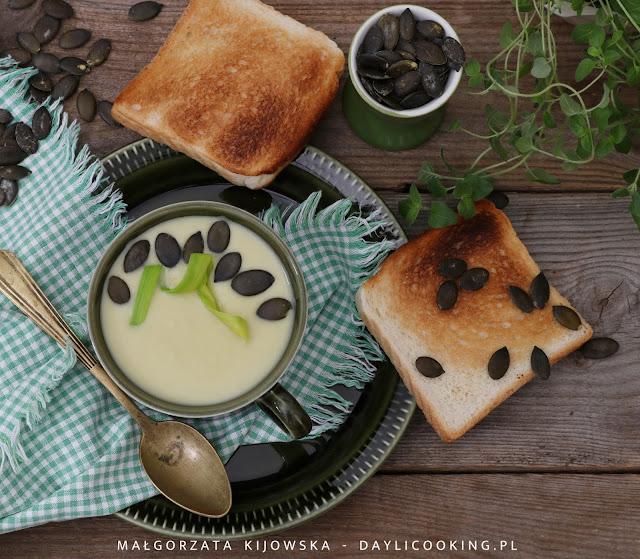 aksamitny krem ziemniaczany, zupa ziemniaczana, kartoflanka, zupa z pora, zupa porowa, zupa z porów, jak zrobić zupę porową, daylicooking