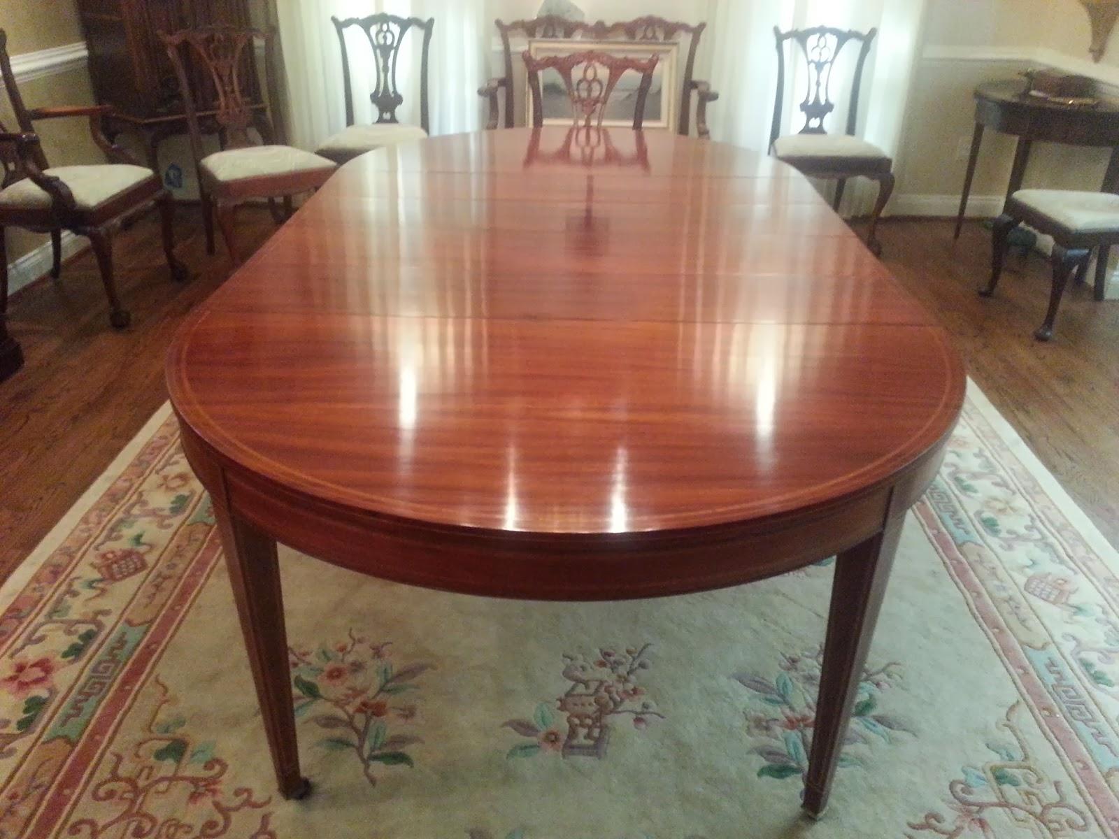 John Mark Antiques Conservator Mahogany Dining Room Table