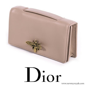 Meghan Markle carried Dior Bee Embellished Clutch