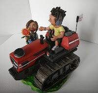 cake topper cartoon divertente pixar sposini campagna orme magiche