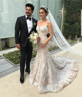 Burak Özçivit and Fahriye Evcen got married!