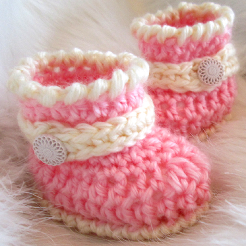 Cute Baby Boots - Free Pattern