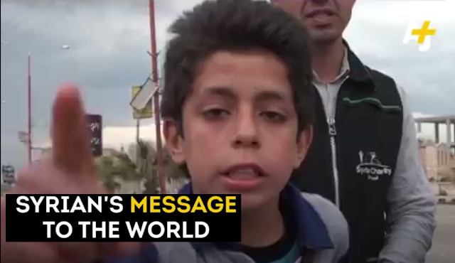 MUST WATCH: A Young Syrian Survivor has a powerful message to the world