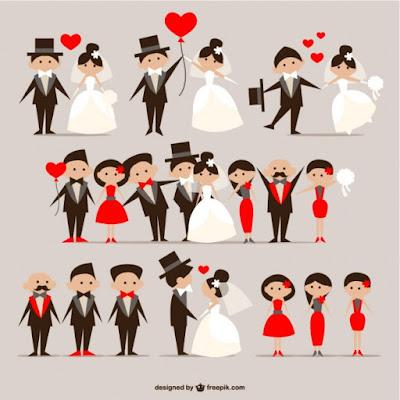 5 Plantillas y vectores  para invitaciones de bodas