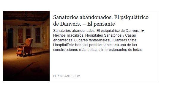 EL PSIQUIATRICO DE DANVERS