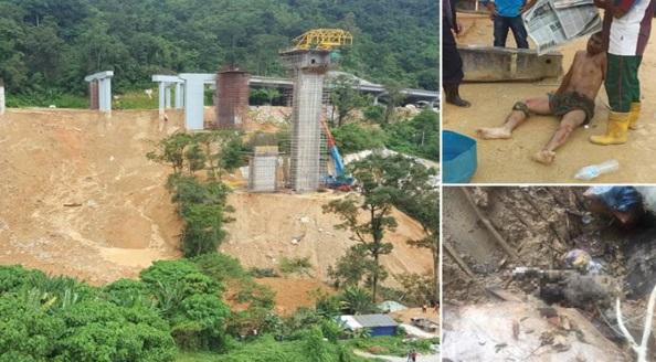 3 dikhuatiri maut, 12 tertimbus tanah runtuh di Pulau Pinang
