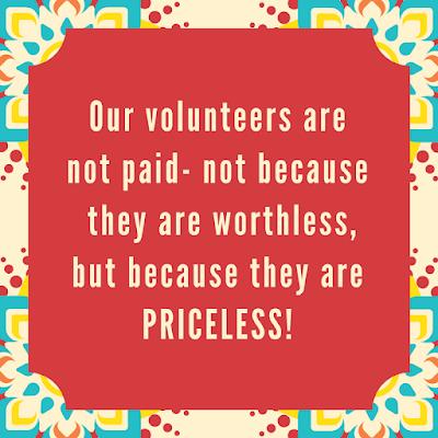 priceless volunteer appreciation