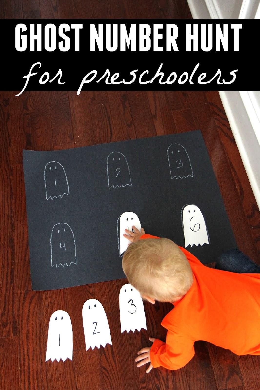 Toddler Approved Ghost Number Hunt For Preschoolers