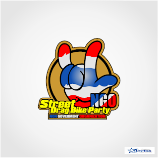 Street Drag Bike Party (NGO) Logo Vector dcr