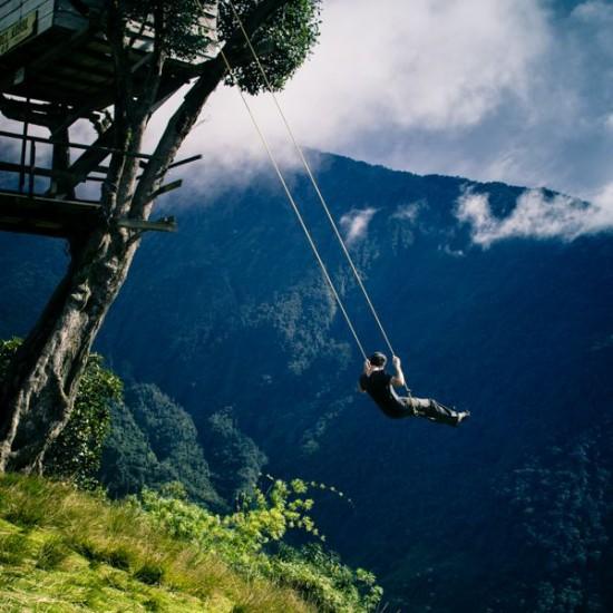 أرجوحة نهاية العالم فى الإكوادور-اخطر ارجوحة فى العالم