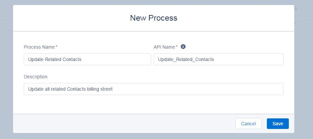 Salesforce Process Builder- Example