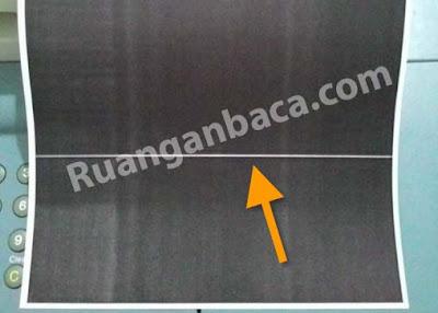 Solusi hasil fotocopy canon terdapat garis putih pada kertas