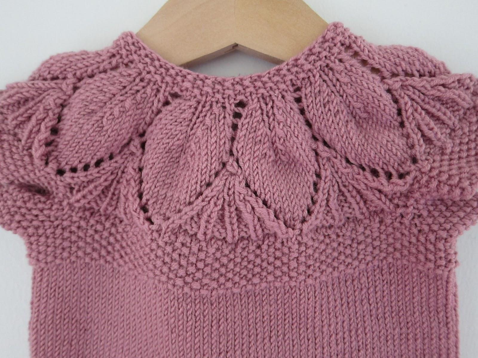 strikket kjole opskrift