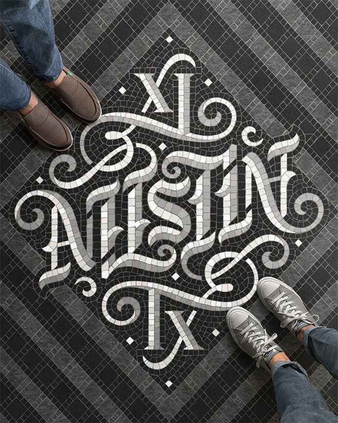 Pengertian Ambirgam, Inspirasi Desain Logo Ambigram - Austin Ambigram