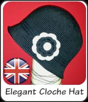 Sombrero cloché elegante en inglés