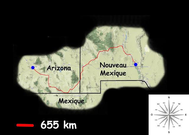 Mon parcours Las Cruces -> Tucson