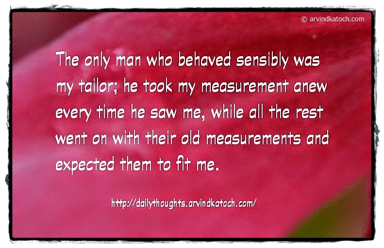Tailor, Sensibly, Time, Expected, Daily Thought, Quote