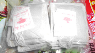 пакетики с артишоковам чаем
