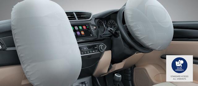 होंडा अमेज़ ब्रेकिंग और सेफ्टी, होंडा अमेज़ सेफ्टी airbag