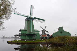 De Gekroonde Poelenburg (foreground), De Kat (background), Zaanse Schans, Zaandam, The Netherlands
