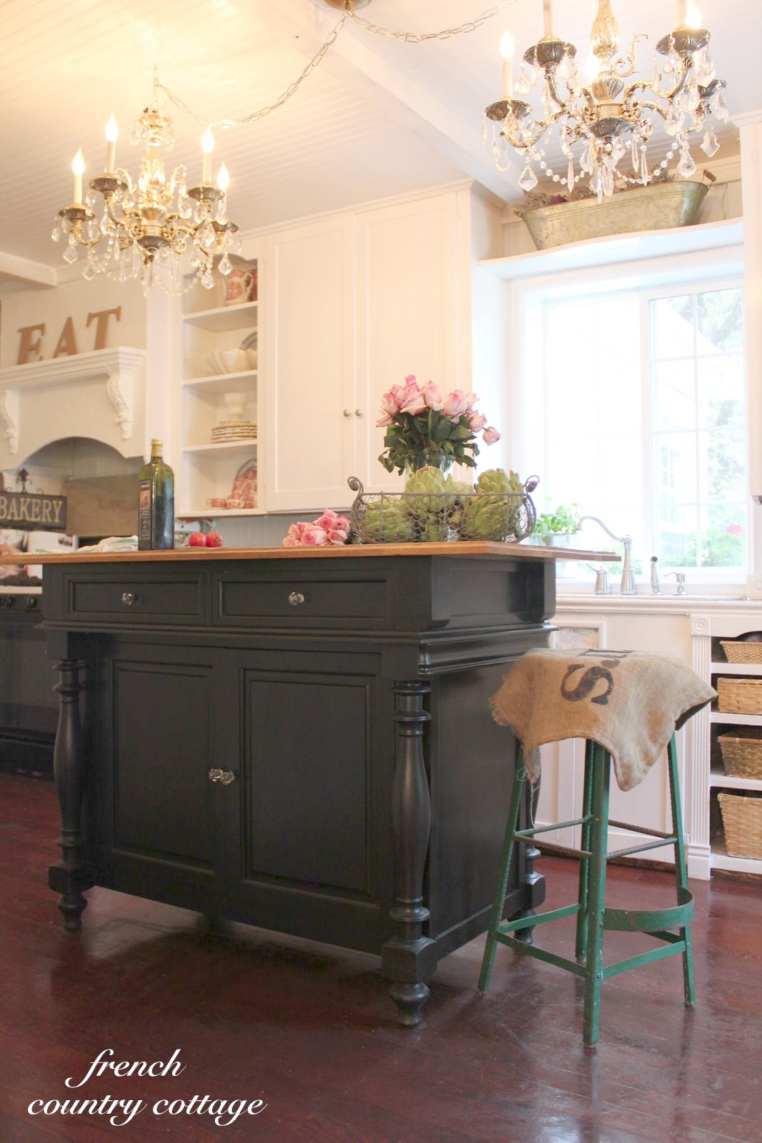 French Country Cottage Kitchen Island