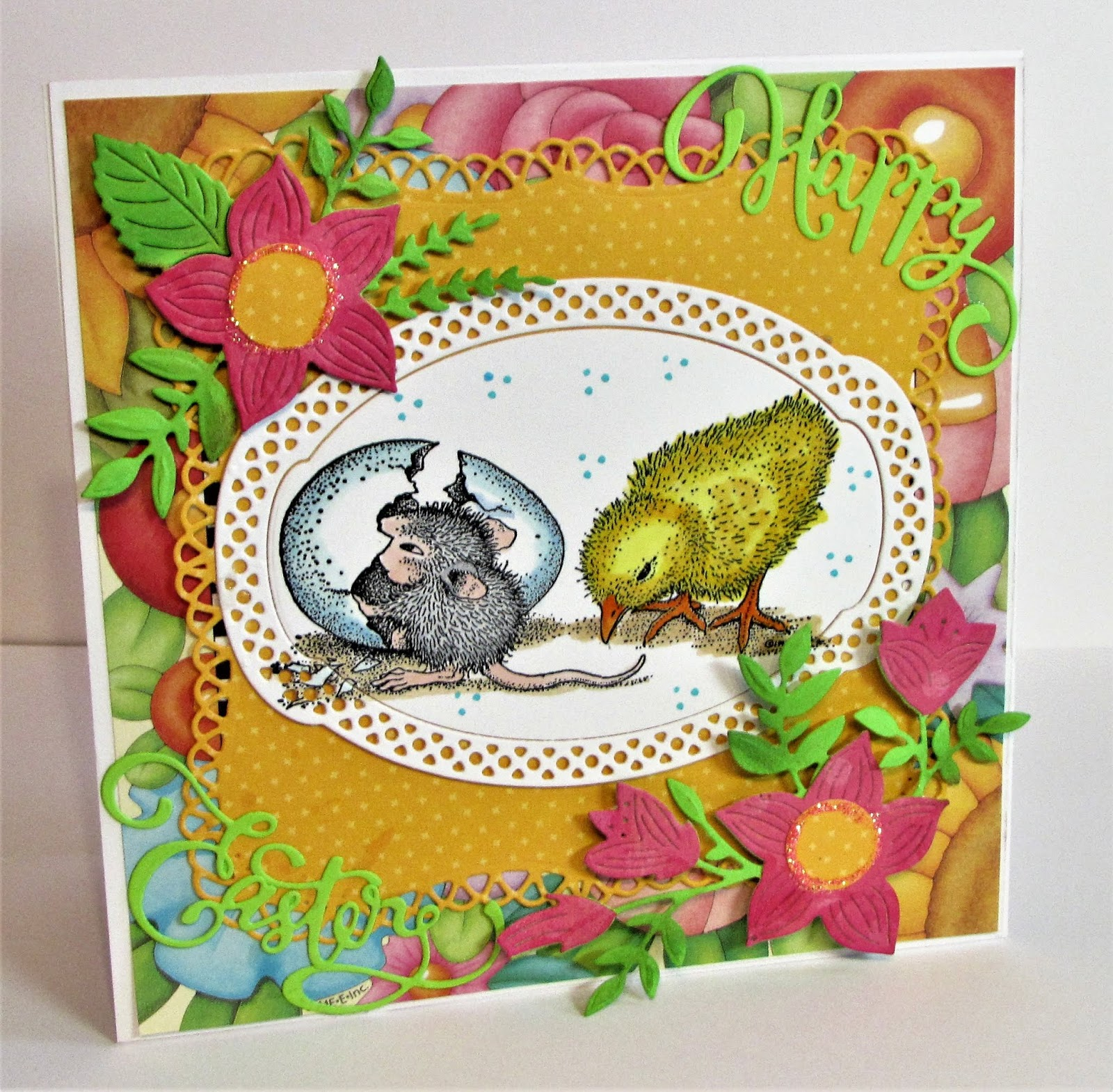 Stampendous House Mouse Cling Stamp-Cookie Crumbles Grey
