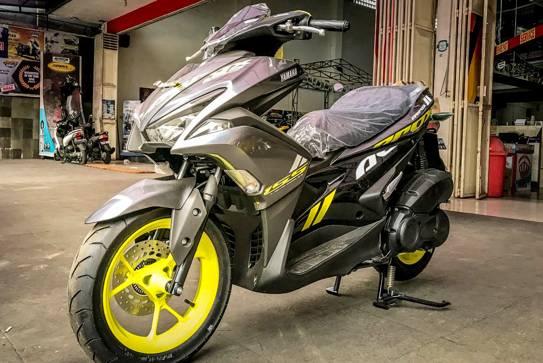 Nih penampakan Yamaha Aerox 155 warna 2019, warnanya jreng jreeng !