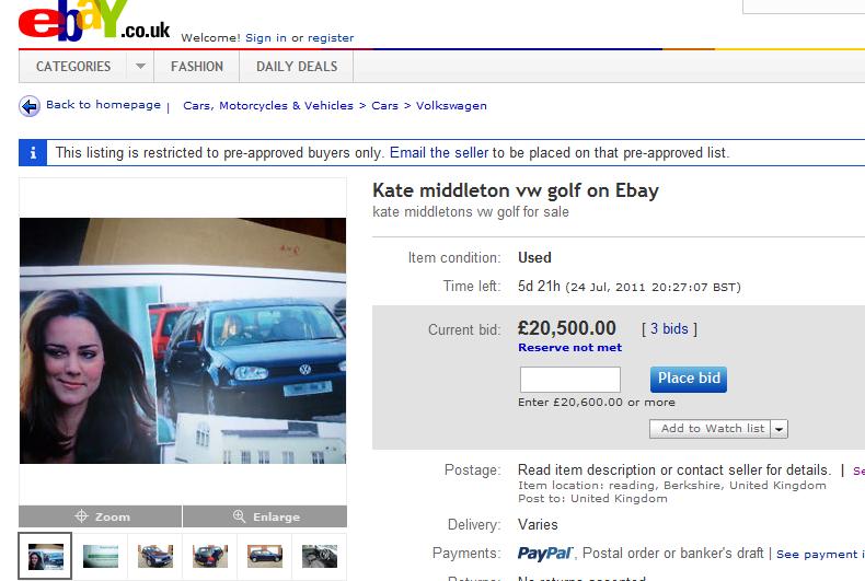 la golf de kate middleton en vente aux ench res sur ebay blogparfait. Black Bedroom Furniture Sets. Home Design Ideas