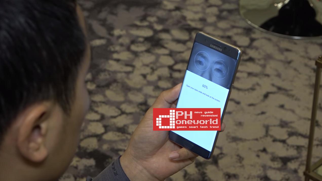 Samsung Galaxy Note 7 | Come funziona scanner dell'Iride